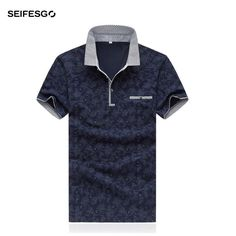 2017 Summer White Short Sleeve Mens Polos Homme Turndown Collar Work Polo Shirts Casual. Tops Type: PolosGender: MenBrand Name: seifesgoStyle: CasualType: RegularMaterial: CottonDecoration: NonePattern Type: PrintSleeve Length(cm): ShortFeature: BreathableColor Style: SolidSize: M L XL XXL 3XL 4XL 5XLColor: Navy  White RedSeason: SummerQuality: High QualityMens Clothing: Boutique Clothing