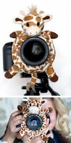 Handig om kindjes te doen lachen op de foto