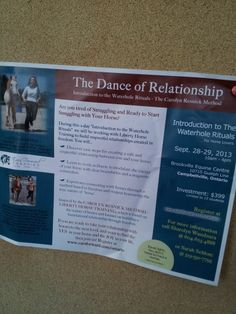 The Dance of Relationship Guelph, ON poster seen in Greenhawk Lambeth store