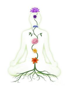 Chakras Photograph - Meditating Woman With Chakras Shown As Flowers by Oleksiy Maksymenko