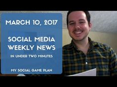 Social Media Weekly News In Under Two Minutes Top Social Media, Social Media Marketing, Social Games, Instagram Story, March, Ads, How To Plan, Locker, Youtube