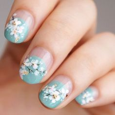 Blossom Nails by Instagrammer @j.hyewa
