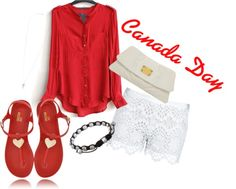 A fashion look from June 2012 featuring long-sleeve crop tops, lace shorts and flats sandals. Browse and shop related looks. Fashion Beauty, Fashion Looks, Womens Fashion, Summer Outfits, Cute Outfits, Canada Day, Long Sleeve Crop Top, Playing Dress Up, Get Dressed