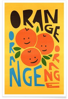 Orange A Tang Art Print by foxandvelvet Bedroom Wall Collage, Photo Wall Collage, Picture Wall, Collage Art, Poster Collage, Room Posters, Poster Wall, Poster Prints, Art Print