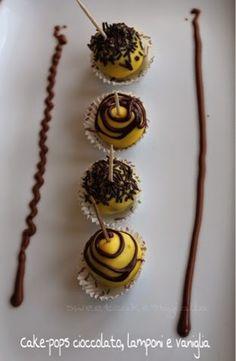 Sweet Cakes by Lalla: CAKE-POPS CIOCCOLATO, LAMPONI E VANIGLIA