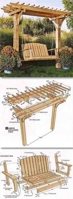 Plans of Woodworking Diy Projects - Plans of Woodworking Diy Projects - Arbor Swing Plans - Outdoor Furniture Plans Projects Get A Lifetime Of Project Ideas Inspiration! #woodworkingprojects Get A Lifetime Of Project Ideas & Inspiration!