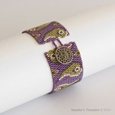 Beading Pattern - Paisley Peyote Cuff Bracelet -  for Personal Use...