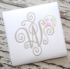 """I2S Elegant Scroll Large Monogram in Font Size(s): 6"""", 7"""" and 8"""""""