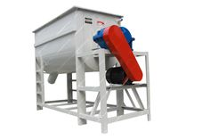 Horizontal Single shaft double screw mixer, a blending machine for mixing of dry granules & powders with higher degree of uniformity(CV≤5-7%) and Short mixing time(3-5minutes). Model: SHJ-500 Capacity: 500kg per batch Power: 7.5kw Dimension: 2450*820*1850mm Weight: 900kg Mixing time: 3-5min Mixing uniformity(CV): 5%