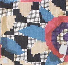 Textile by the Wiener Werkstätte, 1910–28, Silk.