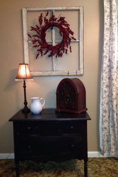 Repurposed dresser and window