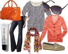 spring break style - LOVE this pattern and color mixing!