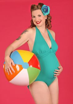 beach pinup maternity - Google Search