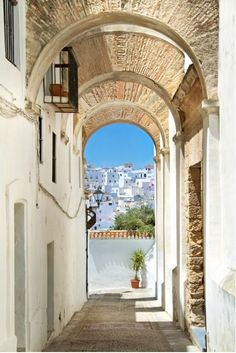 Andalucia archways from $41.99   www.wallartprints.com.au #VillagePictures #LandscapePhotography