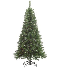 6.5ft Splendor Pine artificial Christmas tree comes pre-lit with 300 clear…