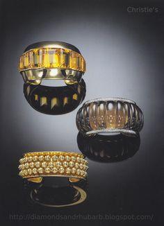 Suzanne Belperon Jeweled Cuffs via Diamonds & Rhubarb