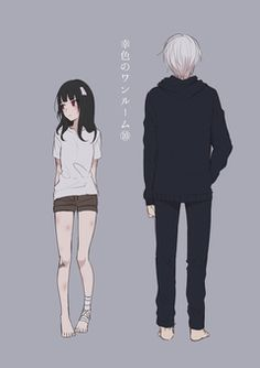 Sachi-iro no One Room Anime Couples, Cute Couples, Drawing Stand, Male Yandere, Onii San, Standing Poses, Estilo Anime, Anime Love Couple, Drawing Clothes