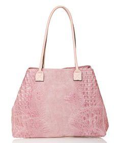 Rosa Croc-Embossed Leather Shoulder Bag