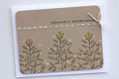 Season's Greetings Card by Heather Nichols for Papertrey Ink (September 2014)