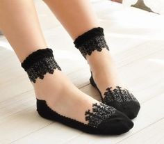 """Unicorn Colors Lace Trim Sheer Ankle Socks/Best Bridesmaids Gifts, In: """"6 Different Colors"""""""
