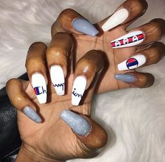 Feb 2020 - Summer Acrylic Coffin Nails Art Ideas For You - Nail Art Connect . Aycrlic Nails, Coffin Nails, Hair And Nails, Manicure, Nails 2016, Nail Nail, Glitter Nails, Summer Acrylic Nails, Best Acrylic Nails
