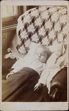 ca. 1868, postmortem of Alfred Owens, aged 10 months  via the Victoria & Albert Museum Collection