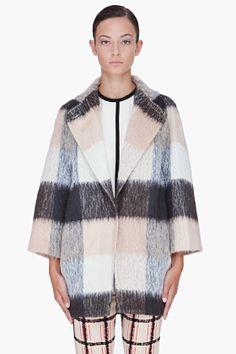 CHLOE Beige Mohair Blend Coat