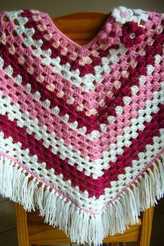 Best 12 a small poncho for a Little girl age 2 – SkillOfKing. Poncho Au Crochet, Fingerless Gloves Crochet Pattern, Crochet Poncho Patterns, Crochet Chart, Crochet Baby, Free Crochet, Kids Poncho, Crochet Accessories, Crochet Projects