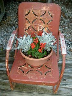 In a garden of rusty delights …   Flea Market Gardening
