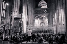 The University Orchestra rehearsing in the Nave of Canterbury Cathedral ahead of the annual Colyer-Fergusson Concert, March Photo: Molly Holman University Of Kent, Canterbury Cathedral, Orchestra, March, Concert, Music, Musica, Musik, Concerts