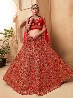 Bridal Lehenga Online, Designer Bridal Lehenga, Indian Bridal Lehenga, Lehenga Choli Online, Ghagra Choli, Wedding Lehnga, Raw Silk Lehenga, Red Lehenga, Choli Designs