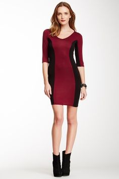 Two-Tone Colorblock Dress by Go Couture on @HauteLook