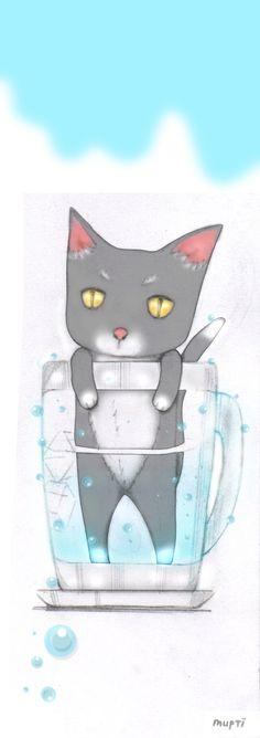 cat in glass #neko #bookmark