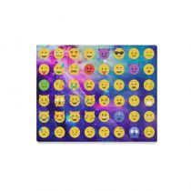 InterestPrint Emoji Galaxy Universe Space Nebula Cloud Colorful Canvas Wall Art Print Painting Wall Hanging Artwork for Home Decoration