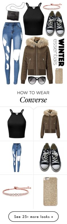 """Untitled #121"" by danielleuhrle on Polyvore featuring Miss Selfridge, Converse, MM6 Maison Margiela, CARAT* London, Michael Kors and Alexander McQueen"