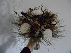 Your place to buy and sell all things handmade Dried Flower Bouquet, Dried Flowers, Silk Roses, Green Satin, Christmas Wreaths, Holiday Decor, Winter, Wedding, Etsy
