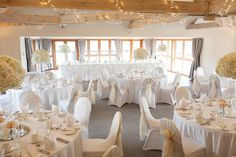 The dusky tones within the Inglesmaldie Events Suite provide a blank canvas for brides and grooms looking to put their own stamp on the room.