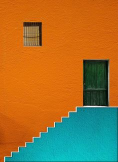 Green Door by Alfon No Editors' Choice) – photography - architecture house Minimal Photography, Abstract Photography, Color Photography, Street Photography, Contrast Photography, Window Photography, Photography Books, Photography Backgrounds, Colourful Photography