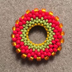how to make a peyote stitch ring (could be used as pendant or as toggle ring)
