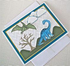 Dinosaur card diorama handmade