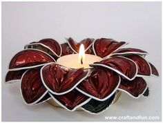 DIY: Candle Holders with recycled coffee capsules Accessories Do-It-Yourself Ideas