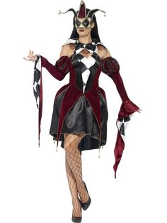 Women's Gothic Venetian Harlequin Costume