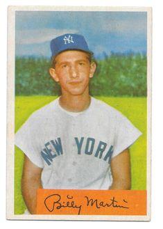 Damn Yankees, New York Yankees Baseball, Ny Yankees, Bowman Baseball Cards, Billy Martin, Pittsburgh Pirates Baseball, The Mick, Evil Empire, Team Player