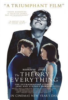 """The Theory of Everything"" with Eddie Redamayne and Felicity Jones.  Congratulations to Eddie for a great performance and winner of the Golden Globe and Oscar for best actor!"