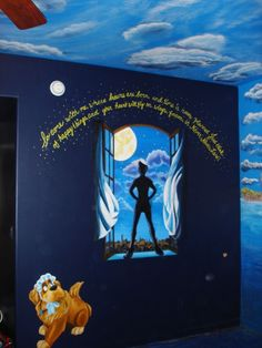 peter pan room ideas | Peter Pan wall mural