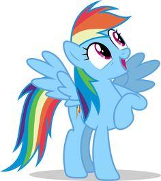 Mlp Fim Rainbow Dash (wow) Vector by luckreza8