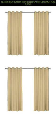 "Commonwealth Outdoor Decor Gazebo 96"" Grommet Curtain Panel in Khaki #kit #curtains #products #plans #drone #technology #outdoor #shopping #racing #decor #parts #fpv #camera #gadgets #tech"