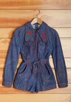 Vintage Jolene on Me Romper, #ModCloth