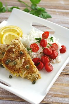 Serve a classic on Meatless Monday: This lemony tempeh scallopini with shallots recipe is a delight