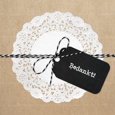 Hippe Bedankkaartverkrijgbaar bij Kaartje2go Wrapping Ideas, Gift Wrapping, Paper Lace Doilies, Coffee Break, Diy Paper, Diy Cards, Jewelry Box, Celebration, Card Making